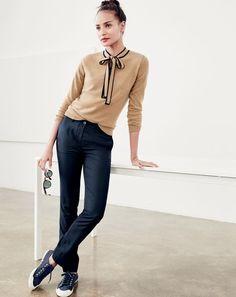 b323c707a16a1 Italian Cashmere Tie-Neck Sweater : Women's Cashmere Sweaters | J.Crew