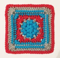"""Ravelry: 6"""" Puff Pastry Block pattern by Donna Kay Lacey"""