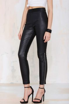 Nasty Gal Against the Machine Leather Skinny Pants