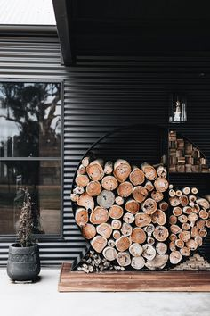 Dark Interiors, Colorful Interiors, House Color Palettes, Firewood Storage, Interior Color Schemes, Interiors Online, Australian Homes, House Entrance, Reno