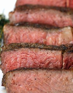 How To Make The Perfect Steak sear first with the butter and herbs then put in oven to get up to desired temperature....rare , medium etc.