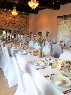 Mariage Table Fleurie Doré Coloré _ Escale Fleurs Rennes