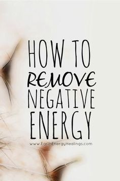 Learn how to remove and release energy that is no longer serving you.