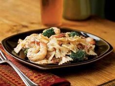 Shrimp, Broccoli, and Sun-Dried Tomatoes with Pasta | Toss together pasta, quick-cooking seafood, and simple sauces for delicious and easy pasta dinners.