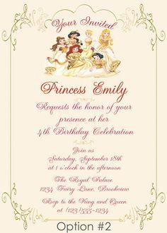 Personalized Photo Invitations   Cmartistry : Personalized Royal Princess Birthday Invitation - DIY Printable
