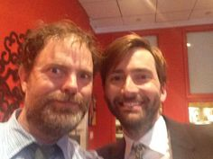 Two of my favorite people, Dwight and the Doctor.