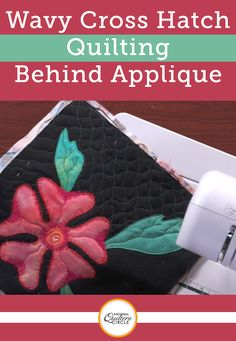 When you have applique or other ornate designs on a quilt top it can be difficult to decide what kind of quilting to do around the designs so as to not take away from them. Heather Thomas shows you how to do wavy cross hatch quilting around an applique shape.