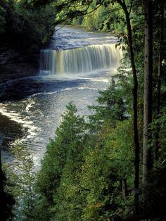 Tahquamenon Falls, Tahquamenon Falls State Park, Michigan, USA Photographic Print by Claudia Adams