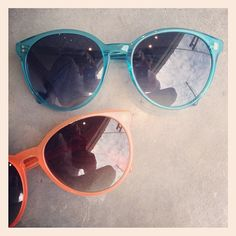 Colors of the Summer: Turquoise & Coral by Oliver Peoples