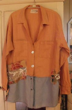 Chaqueta de lino la vendimia / túnica de lino adornado por SheerFab