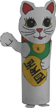 Maneki Neko Cat craft
