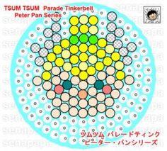 tsum tsum parade tinkerbell perler template