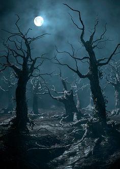 Arnold renders on Behance - Sleeve - halloween art Dark Gothic, Gothic Art, Dark Fantasy Art, Dark Art, Halloween Artwork, Fantasy Places, Dark Photography, Dark Forest, Dark Places