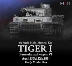 MFH Tiger I Heavy Tank Early Production Ultimate Kit 1/35 Model Factory Hiro New #ModelFactoryHiro