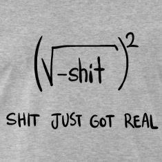 Shit Just Got Real Math Equation