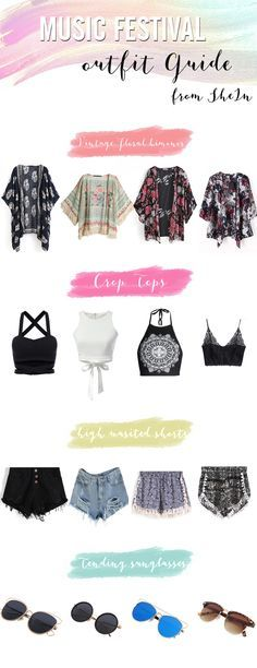 What to wear to a music festival - cute outfit ideas and tips,all items perfect for spring and summer! check http://SheIn.com now #FestivalFashion - #Coachella#celebstyle