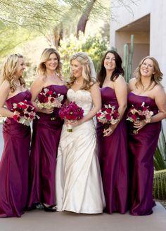 Desert Botanical Garden Wedding Eggplant Bridesmaid Dressesbridesmaid Dress Colorswedding
