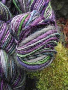 Handspun yarn handpainted yarn Falkland wool worsted by Yarnarchy