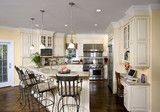 Shiloh Painted Kitchen and Dining Room - traditional - kitchen - dc metro - Kleppinger Design Group, Inc.