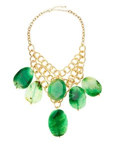 Tiered Agate Statement Necklace at CUSP.