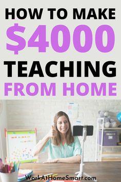 Here are some of the best online tutoring jobs that allow you to teach from home. Legit Work From Home, Legitimate Work From Home, Work From Home Jobs, Work From Home Companies, Online Tutoring, Teaching, How To Make, Home Decor, Decoration Home