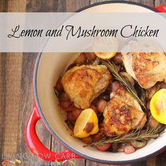 #Whole30 Lemon and Mushroom Chicken #lowcarb #paleo