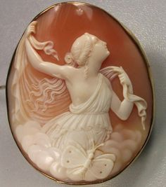Victorian cameo depicting the goddess Psyche