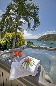 Chocolate Bay Villa - St. John, Virgin Islands with a perfect jacuzzi view.Hope I can find this when I go there in Feburary.