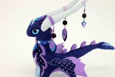 Stofftier Night Dragon Fantasy Plüsch gemacht bestellen tierische Textile Spielsachen Soft Skulptur Kinder, Stoff-Spielzeug, handmade, Lieblings-Spielzeug