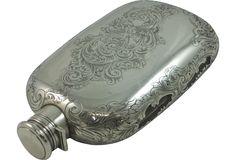 Antique Sterling Flask