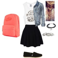 """""""Back to school outfit"""" by kcooper23 on Polyvore. I made this outfit aas something i would wear on the first day of school."""