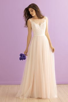 2900 Allure Romance Bridal Gown - We adore the dreamy layers of tulle that make up this floating skirt.