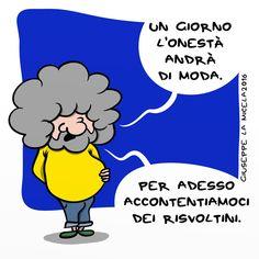 la griffe dell' onestà... #IoSeguoItalianComics #Satira #Politica #Umorismo #Comics #Cinquestelle #Grillo