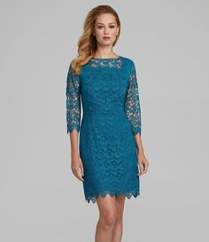 Antonio Melani Kinga Floral Lace Dress | Dillards.com $169