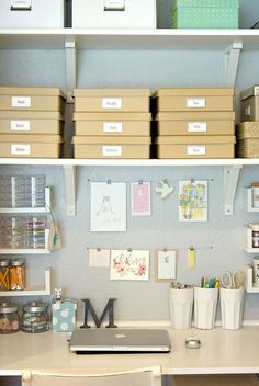 nicely organised desk