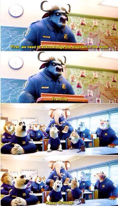 I loved how Zootopia was filled with visual puns. Disney Memes, Disney Quotes, Disney Cartoons, Funny Disney, Disney And More, Disney Love, Disney Magic, Disney High, Disney Stuff