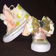 Pink and Gold Baby Shoes (CONVERSE)