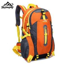 83765cb629 Outdoor Mountaineering Backpack Hiking Camping Waterproof Nylon Travel Bags  Gender  UnisexMaterial  NylonBrand Name  HU WAI JIAN FENGRain Cover   NoFunction  ...