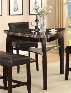 Person Height Pub Table Counter Height Dining Set Cramco - Triangle dining table with bench