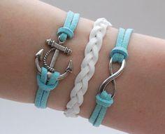 Antique Silver Bracelet, Sailor bracelet, Anchor Jewelry, Silver Infinity Bracelet, Simple Bracelet, Everyday Bracelet