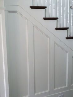 Toby Leary Fine Woodworking - entrances/foyers - traditional staircase, hidden nook, hidden storage nook, faux panels, faux paneling, faux s...