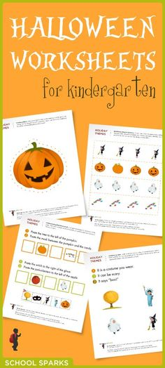Free Halloween-themed worksheets to help your child learn important skills while celebrating the holiday.