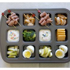 Yummy creative toddler muffin tin meal choices