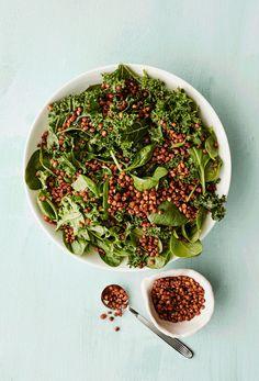 Rapeat linssit   Kasvis, Arjen nopeat, Salaatit, Lisukkeet, Vegaaninen   Soppa365 Salad Recipes, Chili, Salads, Veggies, Vegan, Food, Vegetable Recipes, Chile, Vegetables
