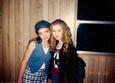 13 éves Britney Spears és a 14 éves Christina Aguilera 1994