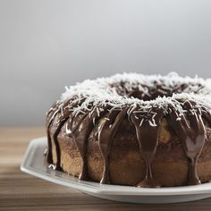 Coconut and Chocolate Cake