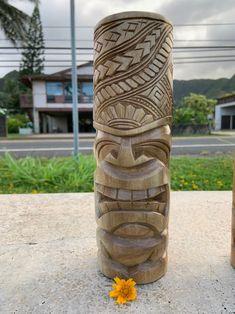 10 Candle Stand Style Tikies set of 4 Ku Lono Kane Wood Carving Art, Wood Art, Industrial Outdoor Furniture, Tiki Head, Tiki Statues, Tiki Totem, Tiki Art, Driftwood Sculpture, Polynesian Culture