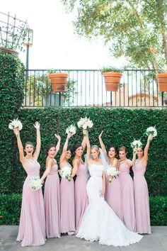 Photography: Aga Jones Photography - agajonesphotography.com Wedding Dress: Enzoani- Dakota - enzoani.com/ Bridesmaids' Dresses: Lulus - lulus.com Read More on SMP: http://stylemepretty.com/vault/gallery/39981