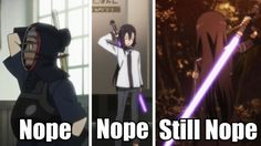 Really dude? Three times? You're not in SAO anymore!!