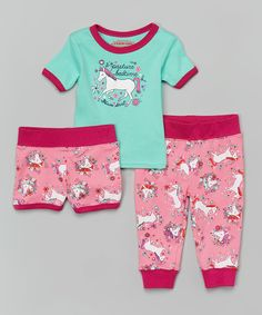Look at this Mint Green 'Pasture Bedtime' Pajama Set - Infant & Toddler on #zulily today!